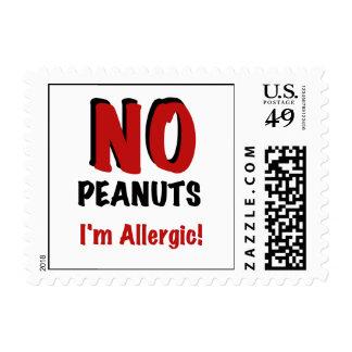 NINGUNOS cacahuetes soy alérgico Sello