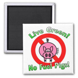 Ningunos cerdos del combustible iman de frigorífico