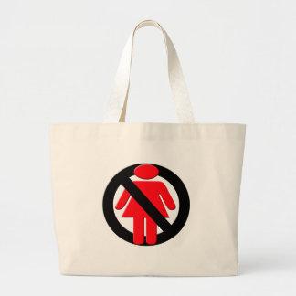 Ningunos chicas permitidos bolsa lienzo