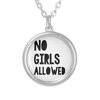 Ningunos chicas permitidos colgante redondo