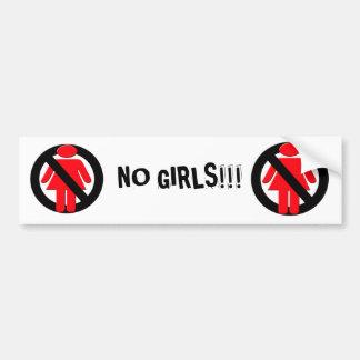 Ningunos chicas permitidos pegatina para auto