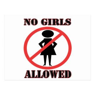 Ningunos chicas permitidos tarjeta postal