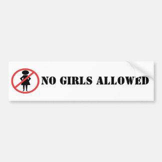 Ningunos chicas permitieron BumperSticker Etiqueta De Parachoque