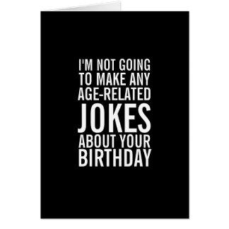 Ningunos chistes sobre su tarjeta de felicitación