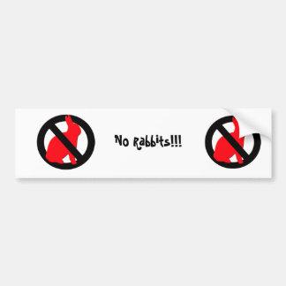 Ningunos conejos permitidos etiqueta de parachoque