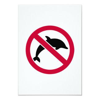 """Ningunos delfínes invitación 3.5"""" x 5"""""""