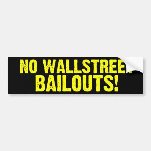 ¡Ningunos desalojos urgentes de Wallstreet! Pegati Etiqueta De Parachoque