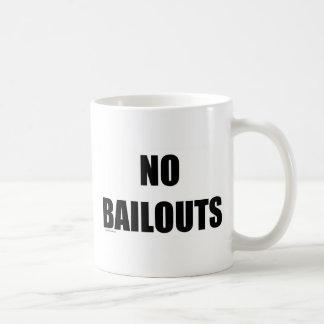 Ningunos desalojos urgentes tazas de café