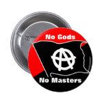 ningunos dioses ningunos amos rojos y botón negro pin