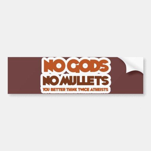 Ningunos dioses ningunos salmonetes usted piensa m etiqueta de parachoque
