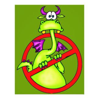 """Ningunos dragones permitieron símbolo folleto 8.5"""" x 11"""""""