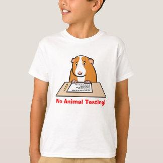 ¡Ningunos ensayos con animales! Playeras