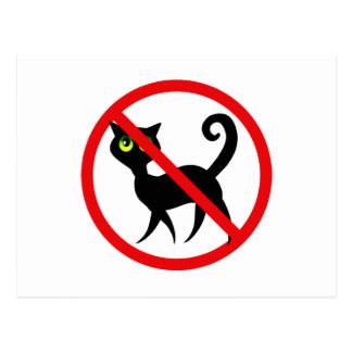 Ningunos gatos permitidos tarjeta postal