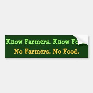 Ningunos granjeros. Ninguna comida. Conozca a los Pegatina Para Auto