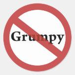 ¡Ningunos Grumps permitidos! Pegatinas Redondas