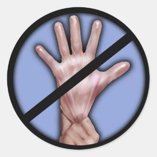 ¡Ningunos guantes de goma! Pegatina