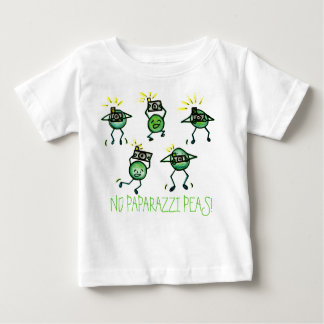 Ningunos guisantes de los paparazzis, camiseta playera para bebé