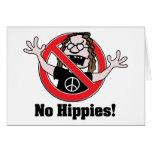 ¡Ningunos hippies! Tarjeta