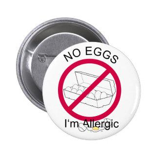 Ningunos huevos pin redondo 5 cm