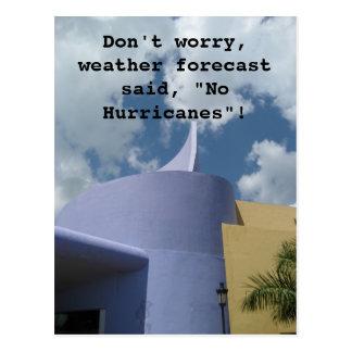 Ningunos huracanes tarjeta postal
