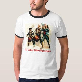 Ningunos impuestos sin la representación camisas