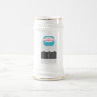 Ningunos impuestos sin la representación jarra de cerveza