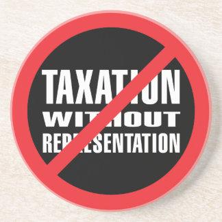 Ningunos impuestos sin la representación posavasos cerveza