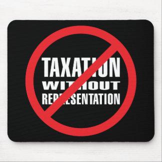 Ningunos impuestos sin la representación mouse pad