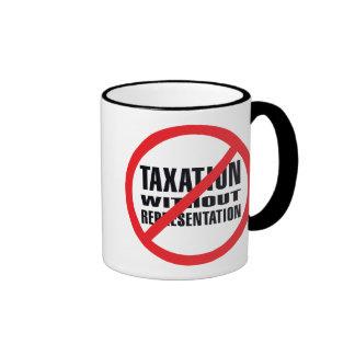 Ningunos impuestos sin la representación taza