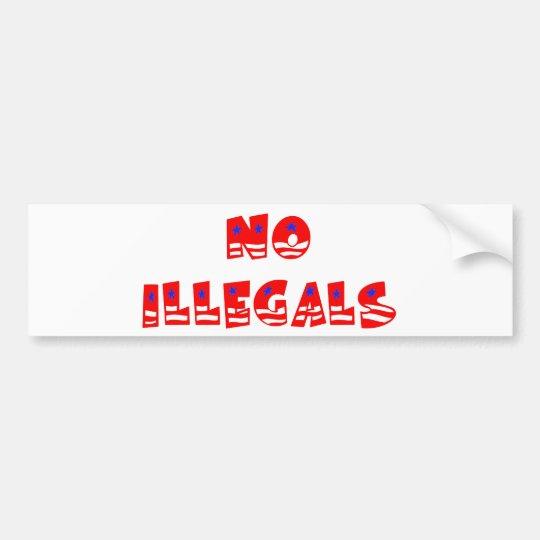 Ningunos inmigrantes ilegales pegatina para auto