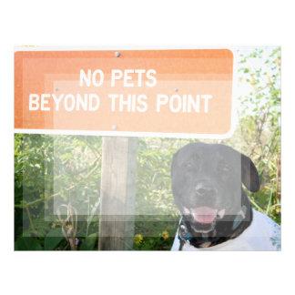 ningunos mascotas con el perro firman en la imagen membrete personalizado