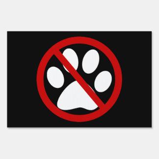 ningunos mascotas permitidos letreros