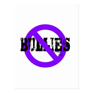 Ningunos matones púrpuras tarjetas postales