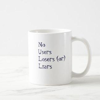 Ningunos mentirosos de los perdedores de los usuar taza