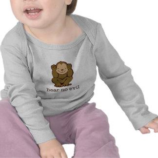 Ningunos monos del mal camiseta