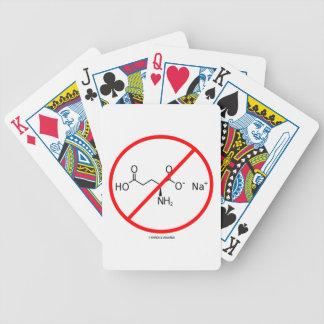 Ningunos MSG (ningún glutamato monosódico) Baraja Cartas De Poker