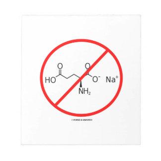Ningunos MSG (ningún glutamato monosódico) Blocs De Notas
