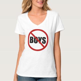Ningunos muchachos no prohibidos la camiseta de polera