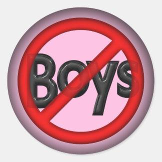Ningunos muchachos pegatina redonda