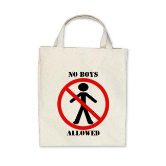 Ningunos muchachos permitidos bolsas
