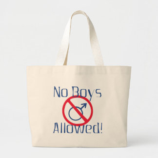 Ningunos muchachos permitidos bolsa lienzo