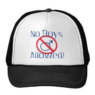Ningunos muchachos permitidos gorras de camionero