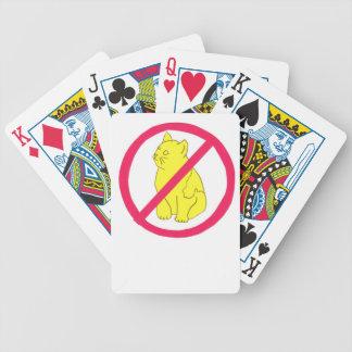 Ningunos naipes del gato de los gatos baraja cartas de poker