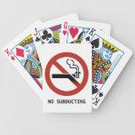 Ningunos naipes Subducting del logotipo Baraja Cartas De Poker