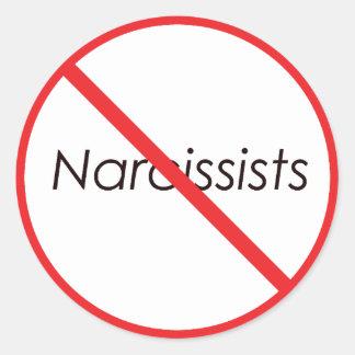 ¡Ningunos Narcissists! Pegatina Redonda