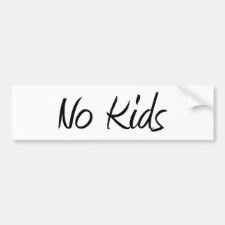 Ningunos niños #1 pegatina de parachoque