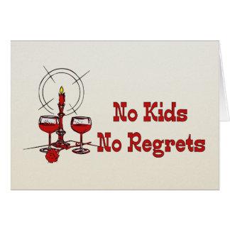 Ningunos niños ningunos pesares tarjeta de felicitación