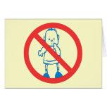 Ningunos niños permitidos tarjetas