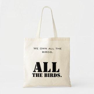 Ningunos pájaros para usted bolsa tela barata