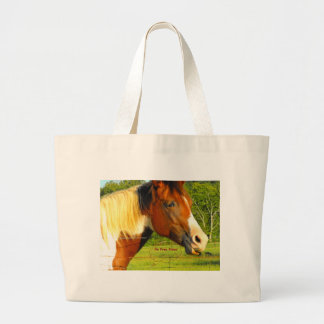 Ningunos pases gratises en caballo de la vida bolsa tela grande